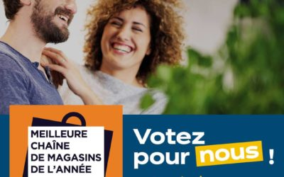 IXINA DE NOUVEAU EN LICE POUR L'ÉLECTION DE MEILLEURE CHAÎNE DE MAGASINS !